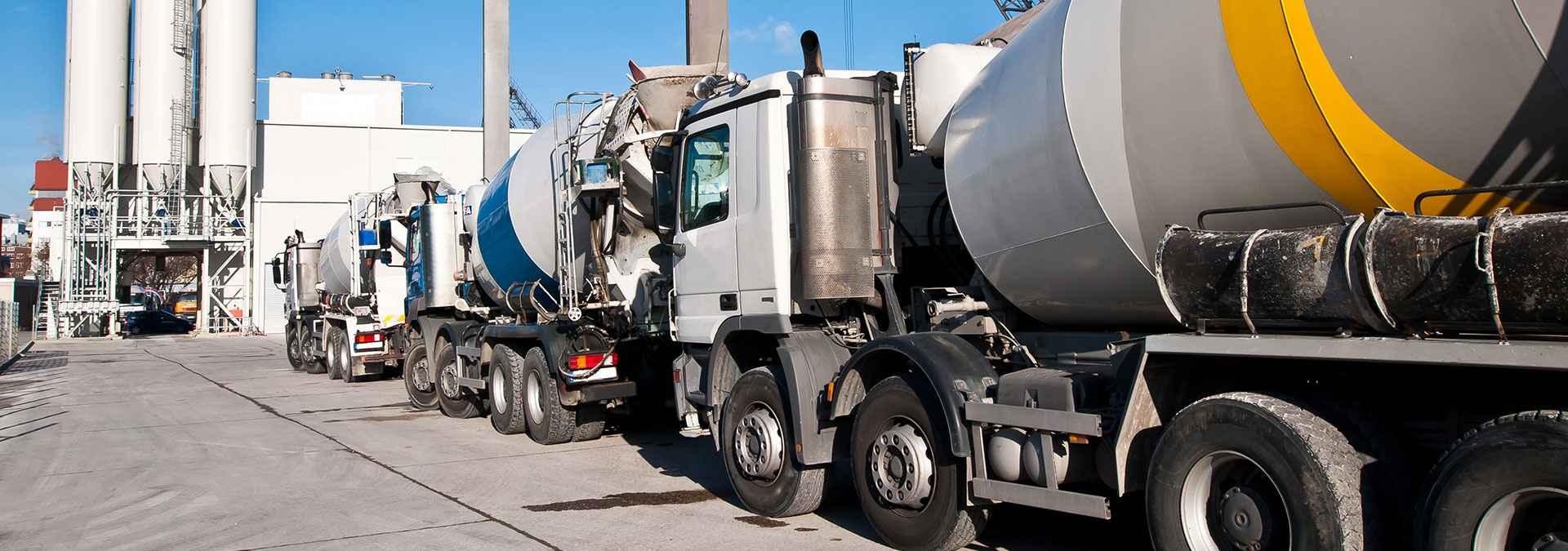 Three Concrete mixers